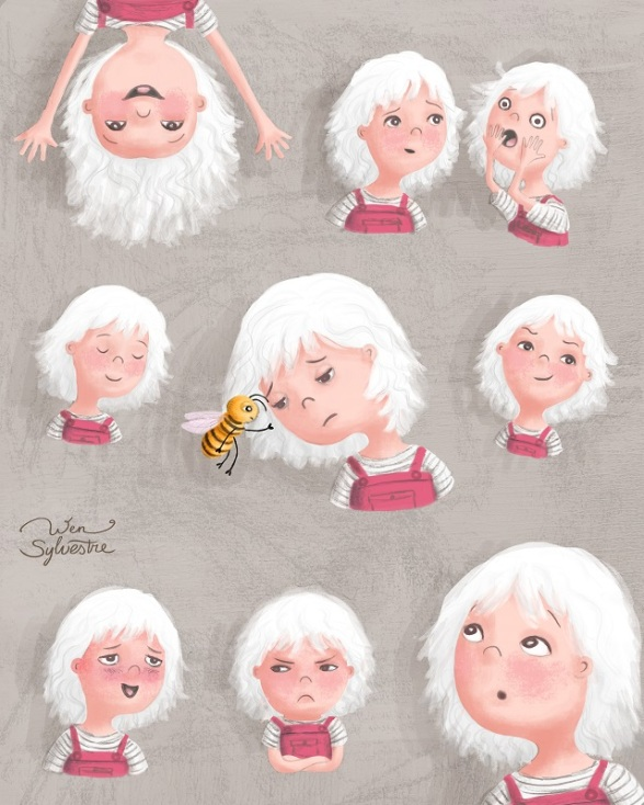 expressions study by Wen Sylvestre for MATS